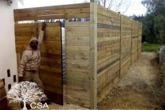 CSA Landscaping Wooden Tanker Walls