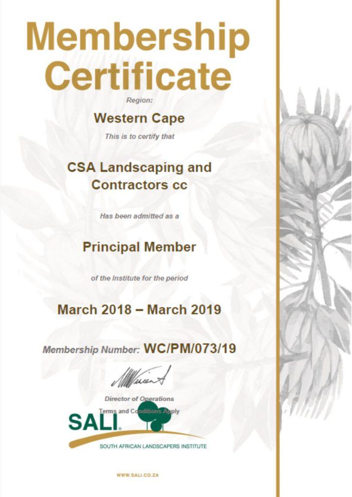 Principal Membership
